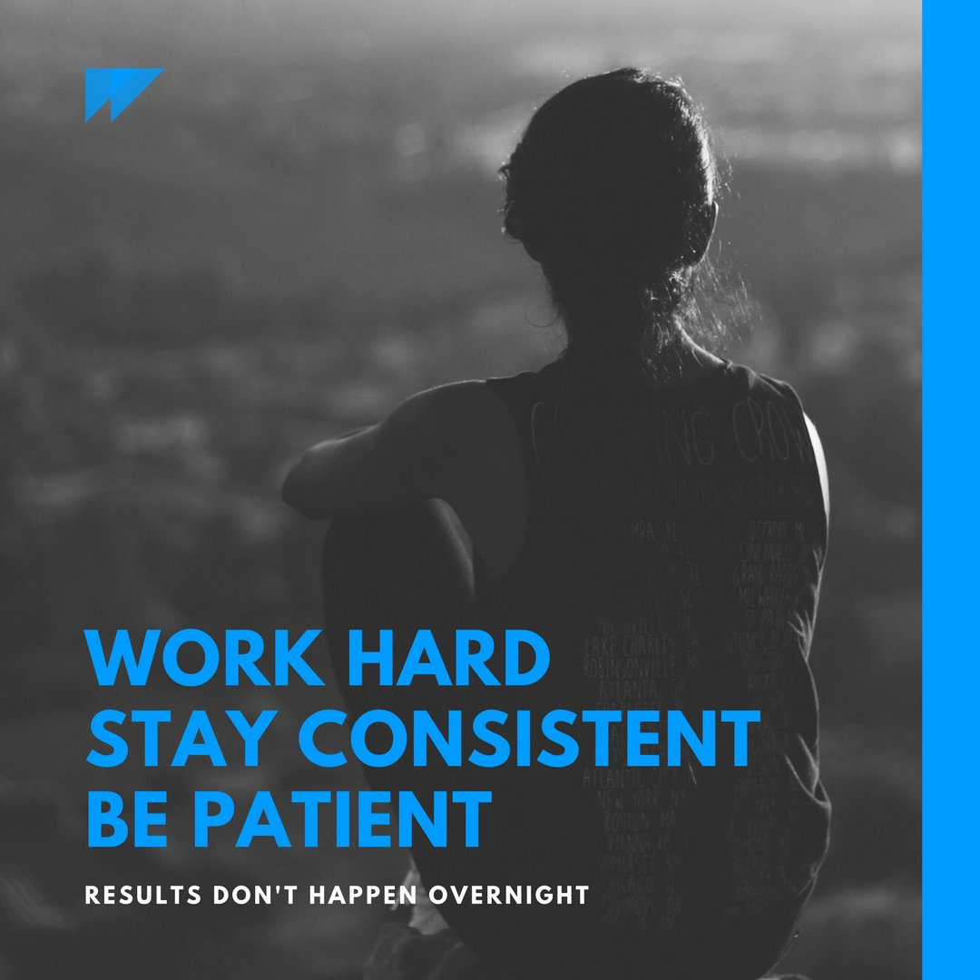Image result for BE CONSISTENT AND PATIENT. RESULTS WILL COME.