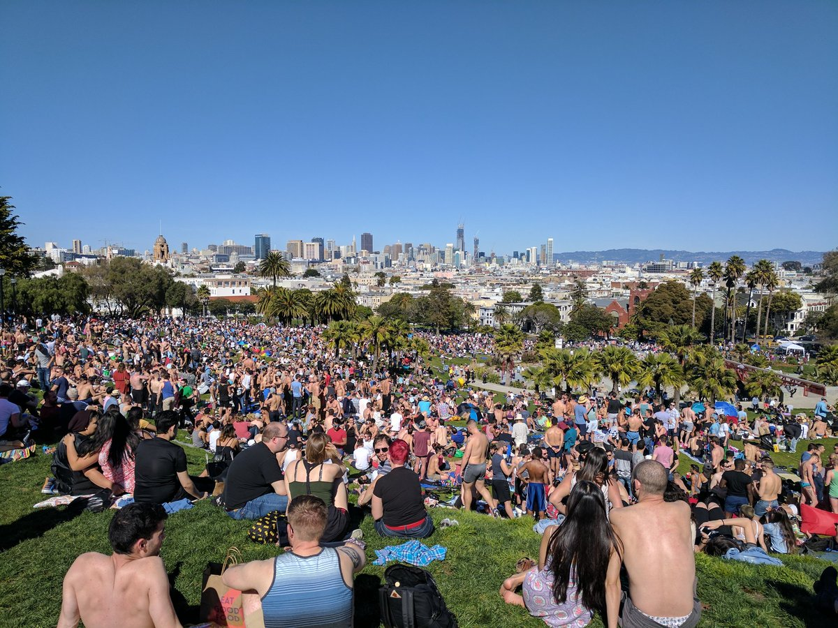 My flight to NYC was cancelled due to a snowstorm. Meanwhile in SF..