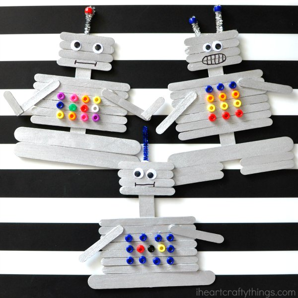 Creative Craft Stick Robot Craft