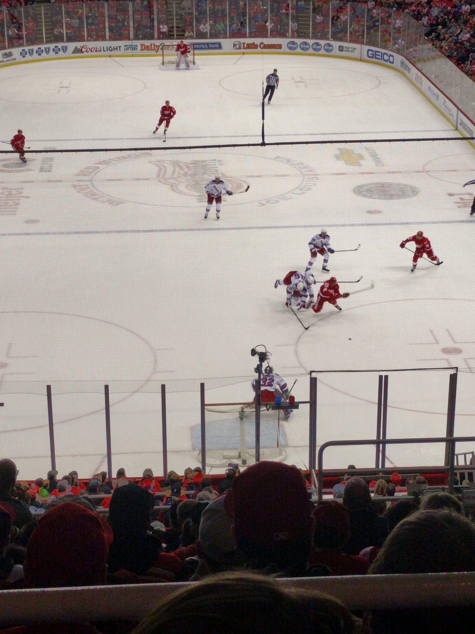 #RedWings #LGRW #powerplay Penalty against NY Rangers.  Tripping NY just scored.  Booo https://t.co/MJv12ne20X
