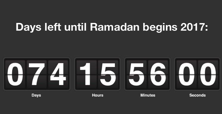74 hari menjelang Ramadhan Insya Allah https://t.co/4qziKdEZUF