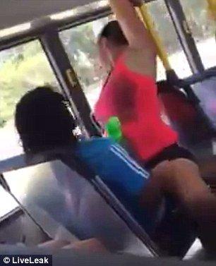 couple having sex on bus