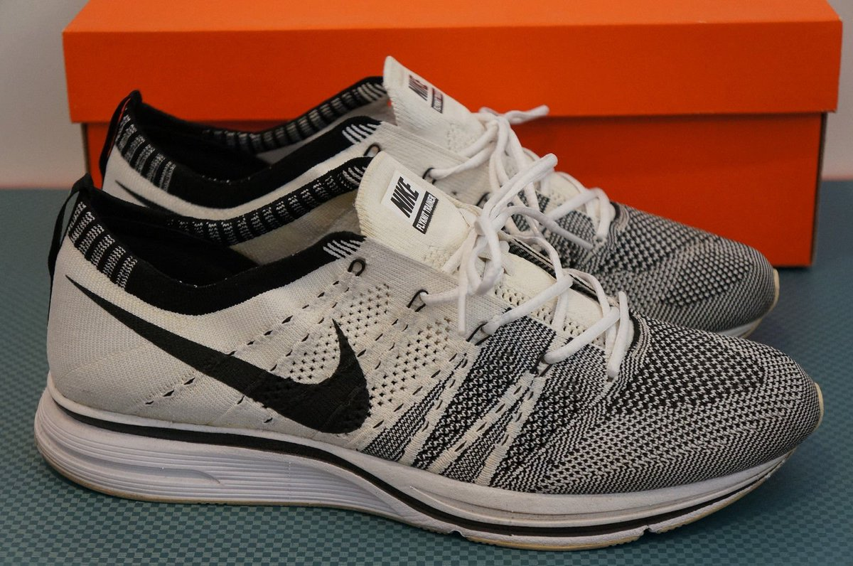 3040fe01018d ... order kanye west things on twitter kanyewest shoes nike flyknit trainer  2012 white black 9.5 us