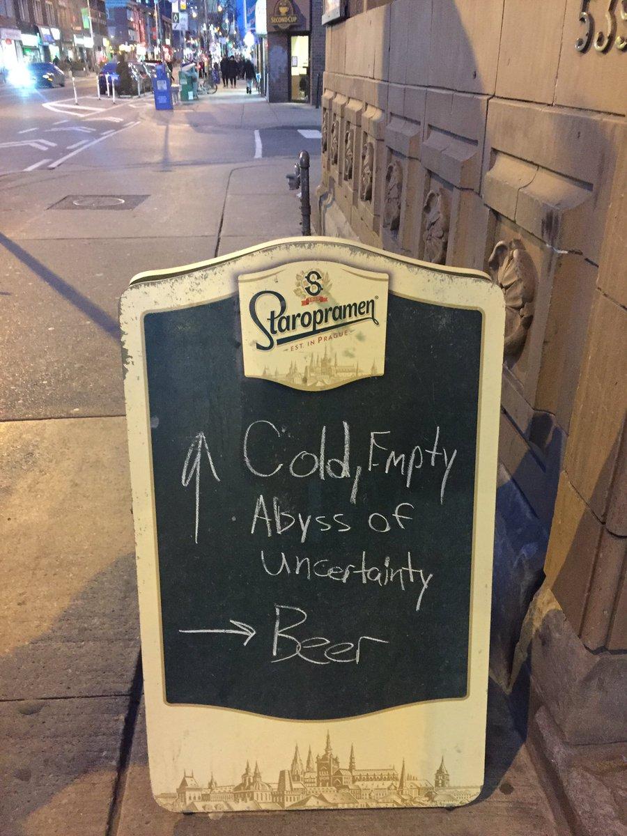 ↑冷たく空っぽで不確実な虚無 →ビール