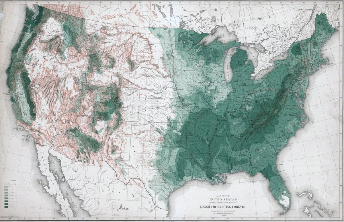 Map Of Usa Forests.Elizabeth Boyer On Twitter 1884 Map Of Forests Of The Usa By The