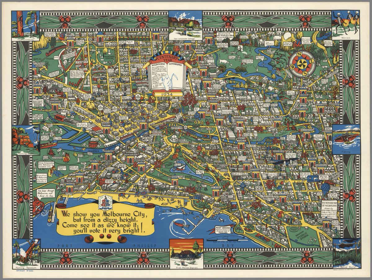 Simon Kuestenmacher On Twitter Cute Vintage Map Shows Melbourne - Vintage maps melbourne