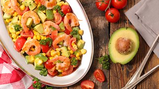 Рецепт салат с креветками и шампиньонами