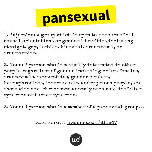 Pan sexual urban dictionary