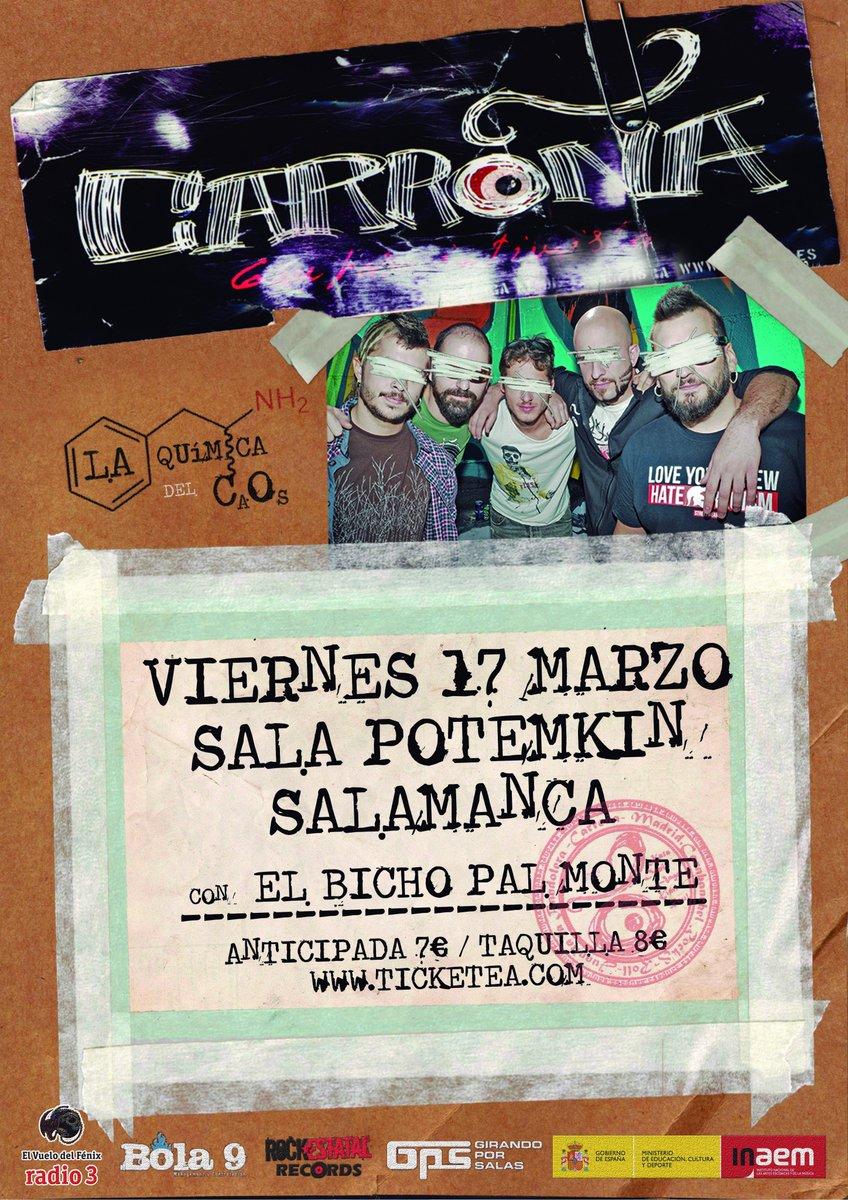Este finde nos vemos en #Salamanca con #bichopalmonte en la @Potemkim_sala<br>http://pic.twitter.com/N8OBvuno2T