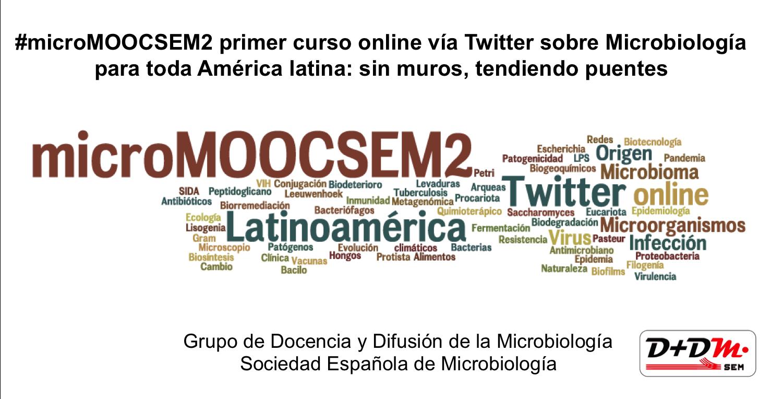 Comienza #microMOOCSEM2 el curso de microbiología vía twiter y facebook para España y toda América latina https://t.co/cInoyisgOs