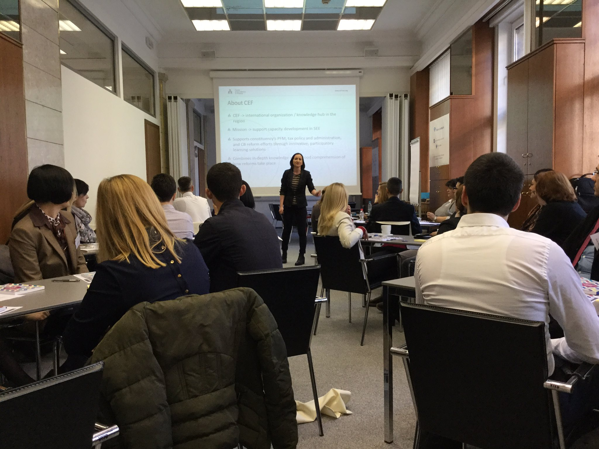 CEF facilitator Ziva Lautar welcomes participants, faculty and partners. Ready to start the third regional workshop! https://t.co/k5OKnF6f5j