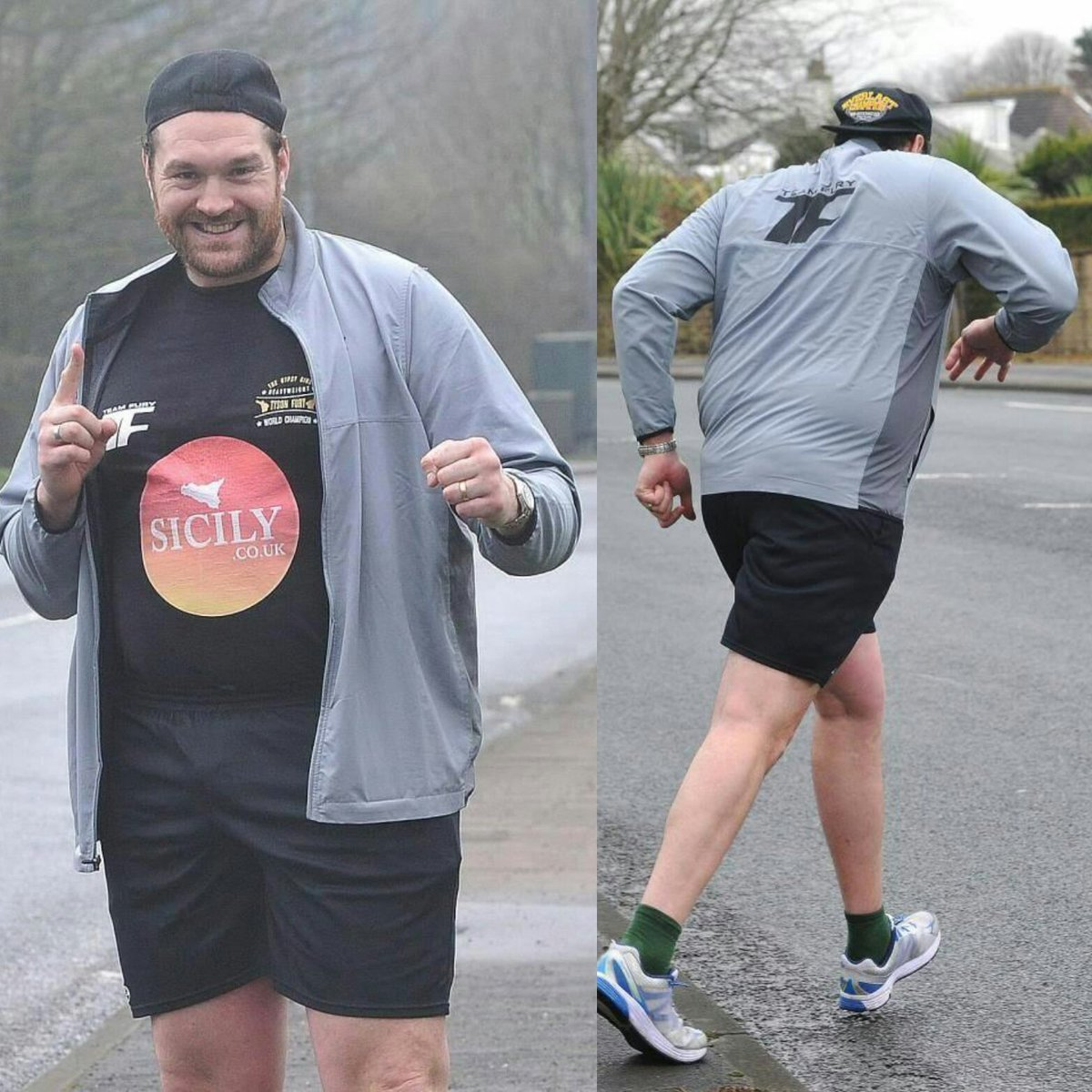 Picture Of Tyson Fury Going For A Sunday Run...