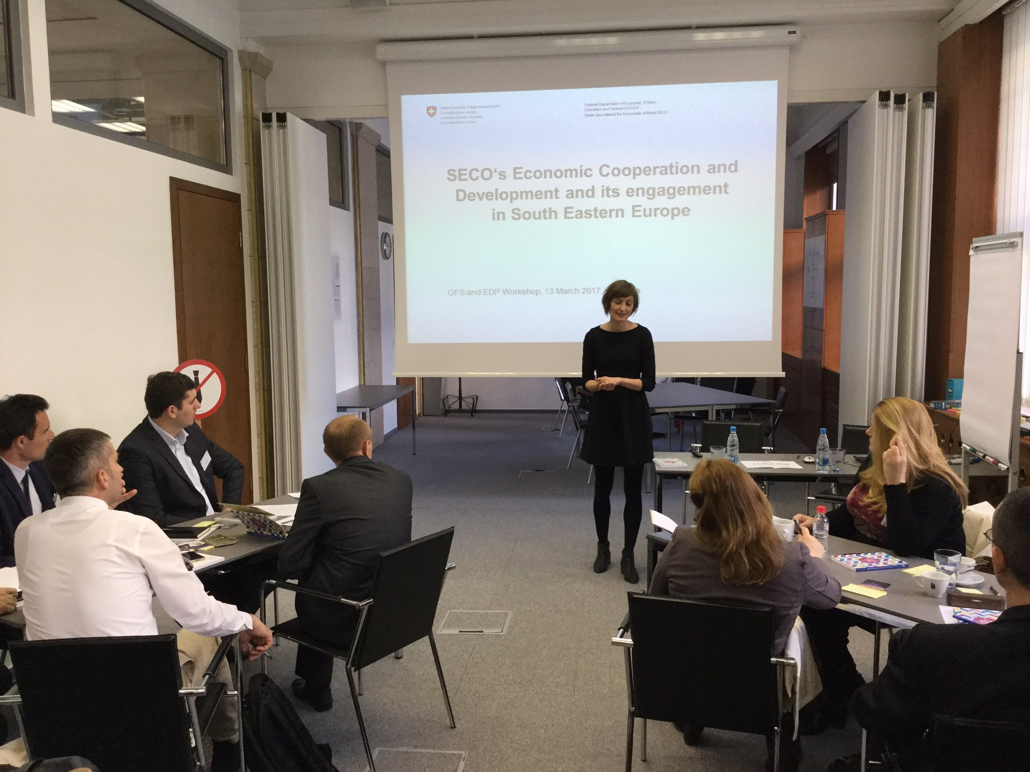 Irene Frei from #SECO on the role of SECO and engagement in #SEE https://t.co/7ueV6T2ulS