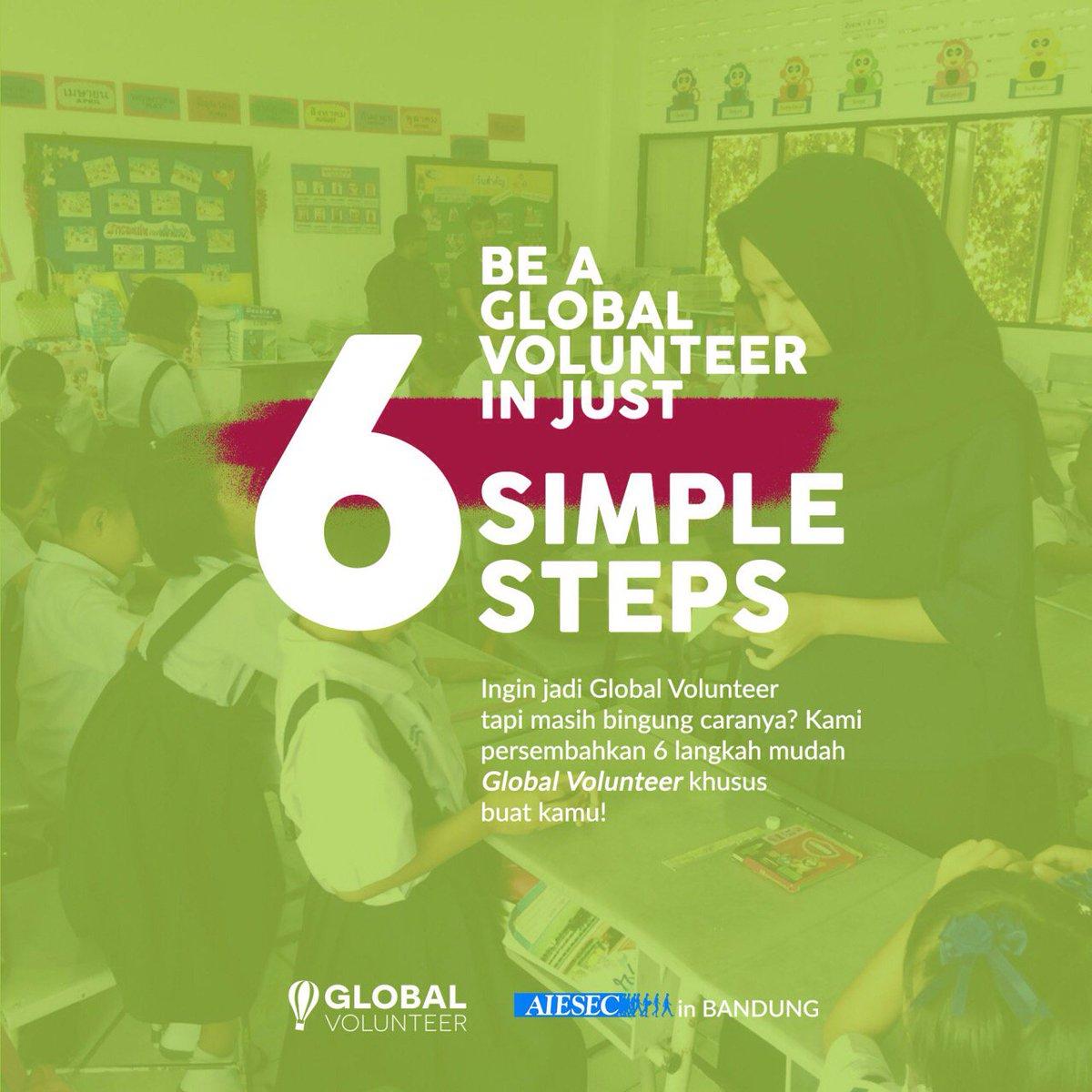 Bagi kamu yang ingin ikut dalam program Global Volunteer tetapi masih bingung caranya, ikuti tutorial super mudah kami berikut ini. https://t.co/kXO8CKIxut