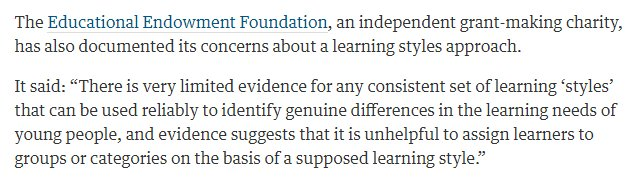 Teachers Must Ditch Neuromyth Of >> Eef On Twitter Guardian Teachers Must Ditch Neuromyth Of