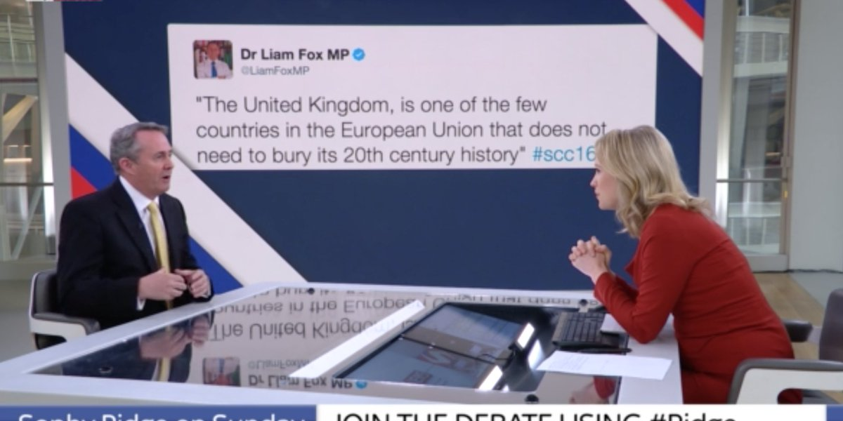 Liam Fox denies sending tweet whilst sitting in front of massive picture of it https://t.co/qgP8eC190j https://t.co/0SQbjgoQDQ