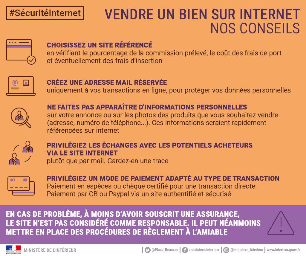 Vous souhaitez vendre un bien sur Internet   Suivez nos conseils pour  réaliser la  transaction en toute  sécurité !… https   t.co 1m8YnLsuiS
