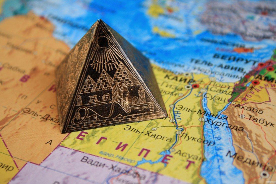 Днем, открытка с египта