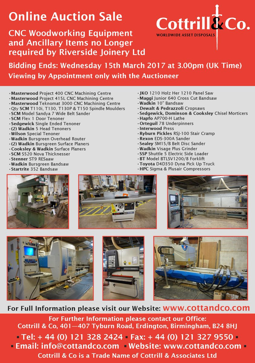 Cottrill Co On Twitter Auction 15th Mar Cnc