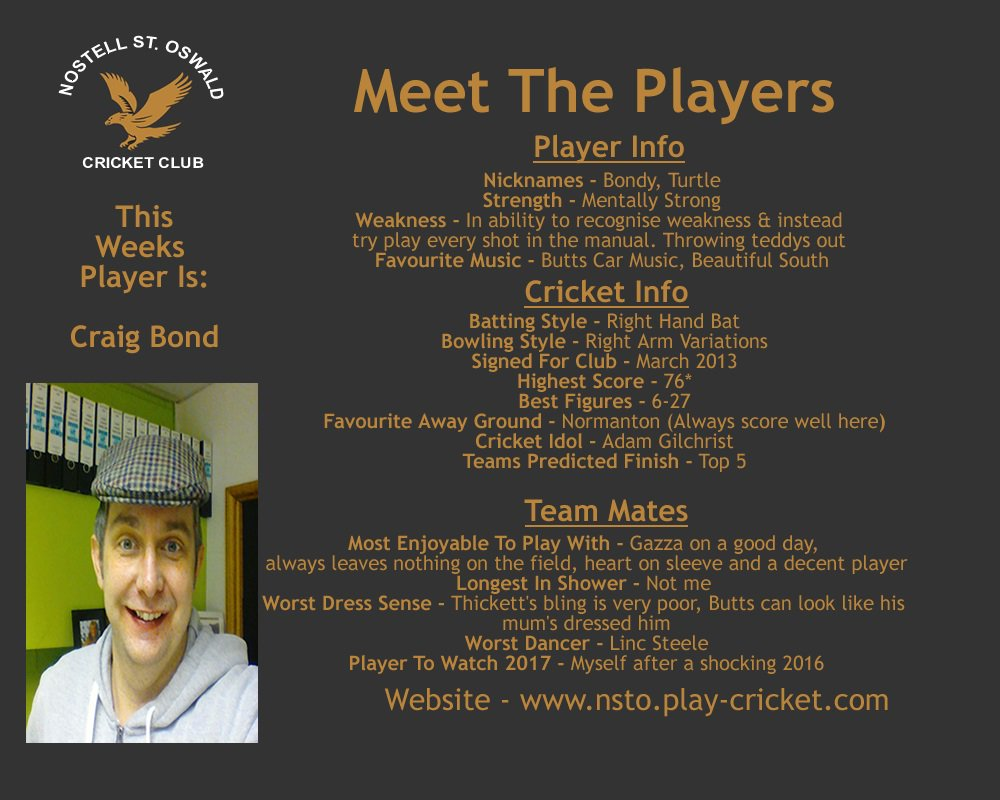 This week we look at the greatest player ever to grace cricket! @bondy_2612 It&#39;s a shame we have to listen to him telling us! #MeetThePlayer <br>http://pic.twitter.com/fxIoepVyOQ