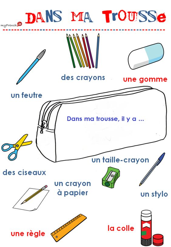 voil learning on twitter what can you find in your pencil case french vocabulary. Black Bedroom Furniture Sets. Home Design Ideas