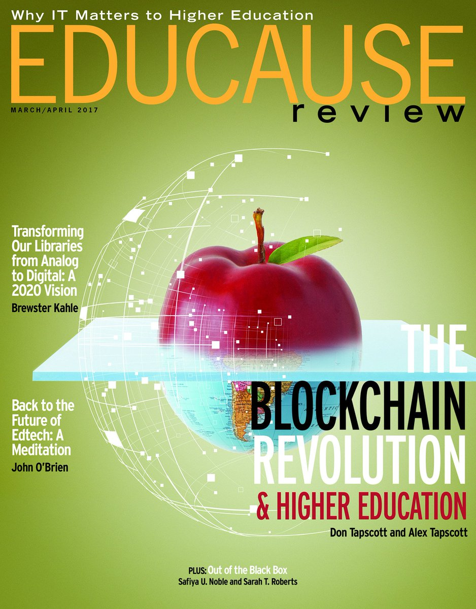 Resultat d'imatges de EDUCAUSE Review: Print Edition Volume 52, Number 2 March/April 2017