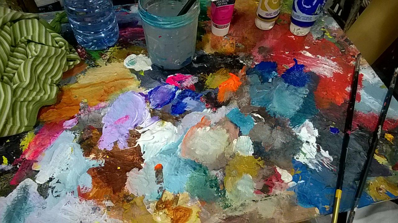 #now je travaille la chimie des couleurs 😉 https://t.co/r7fjET1mkW