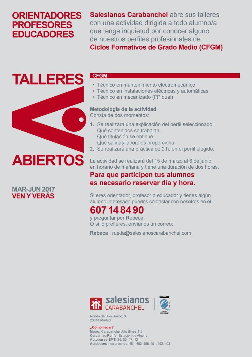 Salesian Carabanchel On Twitter Talleres Abiertos Grado