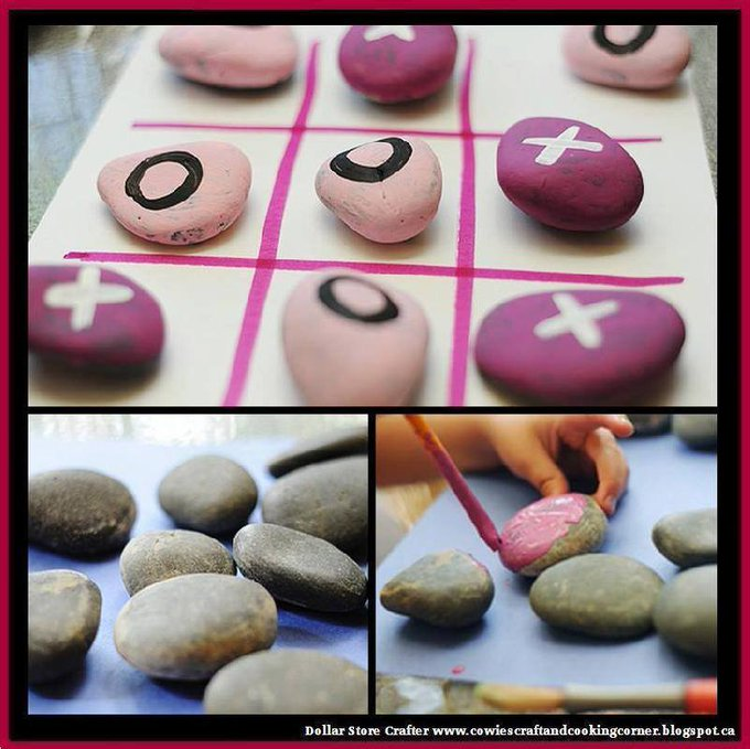Turn Rocks Into A Tic-Tac-Toe Game
