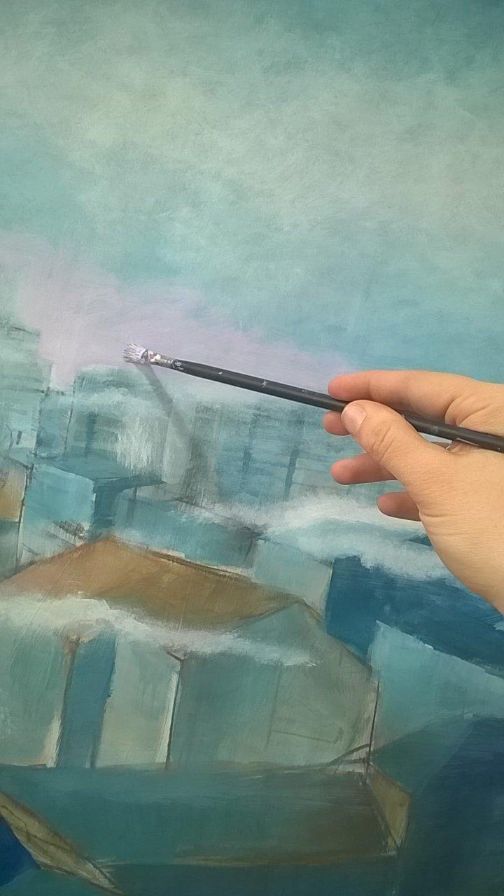 #now Peinture aux Atelier des Beaux Arts de la ville de Paris. J'y vais 3h/semaine, en journée ou soirée. Explorations plastiques. https://t.co/PfS9sNYXhz