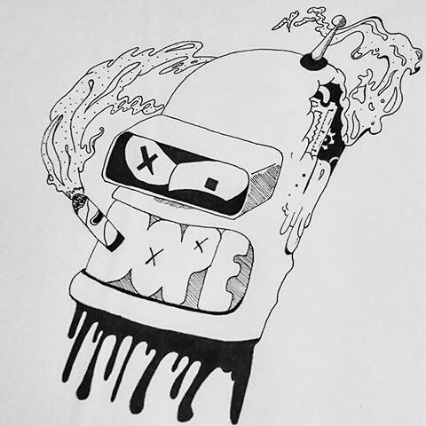 Jessyca S 96 On Twitter Bender Futurama Disegno Draw Drawing Pen Dope