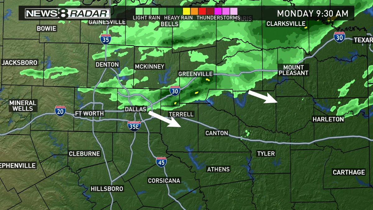 Radar Update Another Batch Of Light Rain Moving Southeast Showers