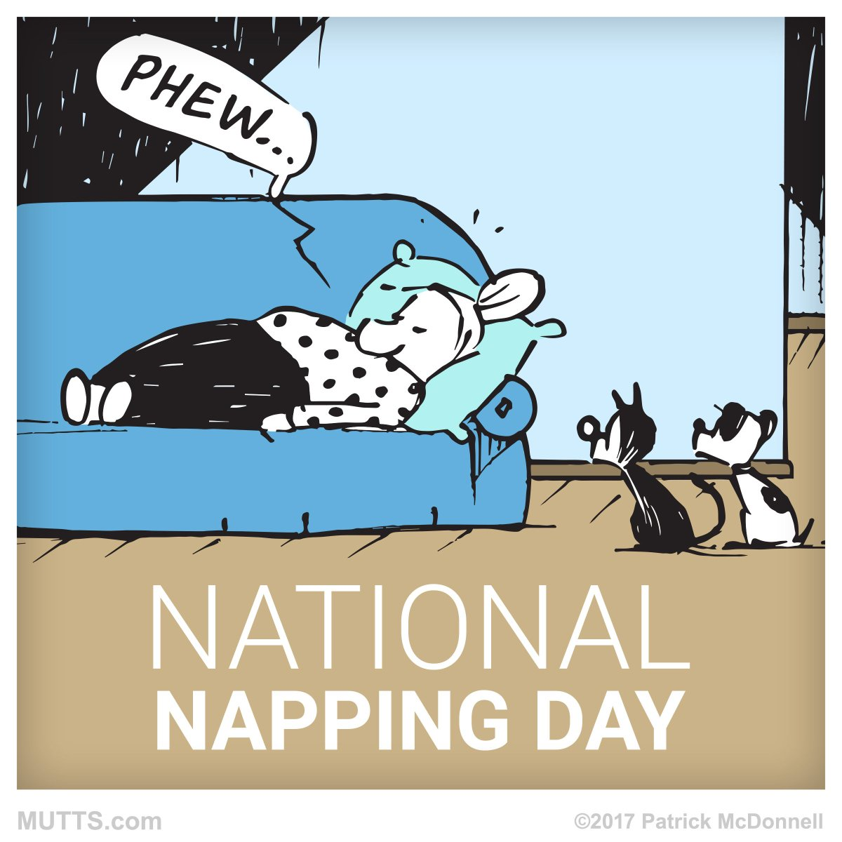 napping day mutts
