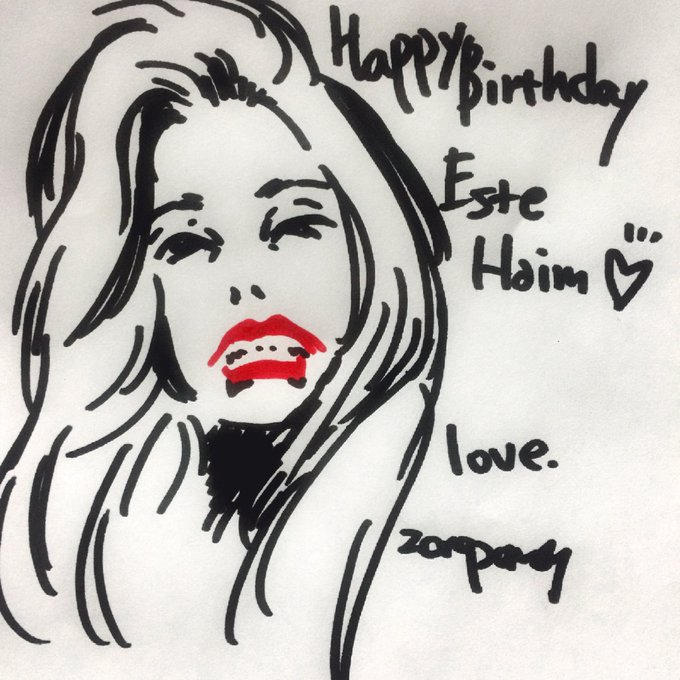 Happy Birthday! Este Haim!!         love you