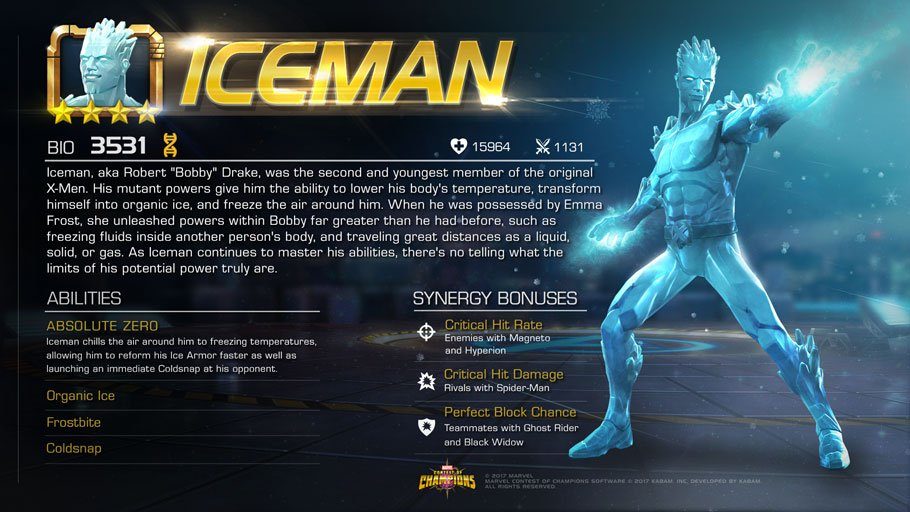Marvelchampions On Twitter Iceman Was The Second And Youngest