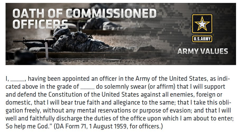 Image result for military officer oath army