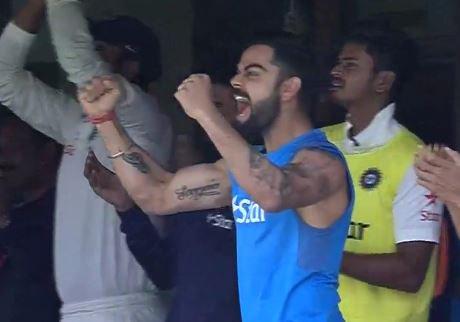Kohli tried containing excitement