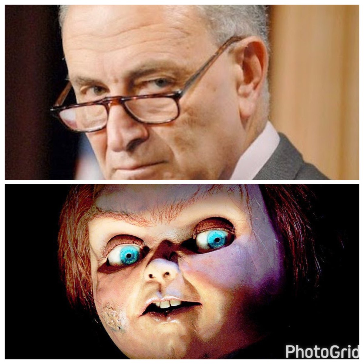@SenSchumer is a JERK. He turned into Chucky, BULLYING a lady at dinner because she voted for #DJT!  #hypocrisy   http://www. foxnews.com/politics/2017/ 03/27/schumer-goes-off-on-trump-supporter-at-nyc-restaurant-witness-says.html &nbsp; … <br>http://pic.twitter.com/14q8KcweGQ