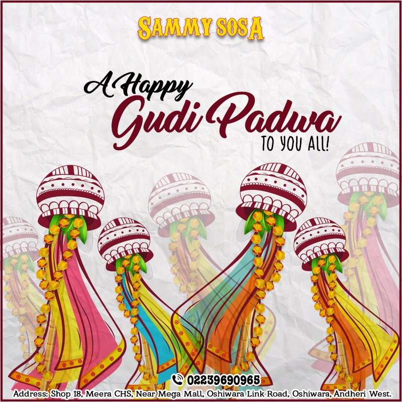 Its time to make way for some #new #beginnings #SammySosa #HappyNewYear #GudiPadwa #Family #Friends #Food #Moments #Love #Dropin #Festive<br>http://pic.twitter.com/4ZgD8sLOX7