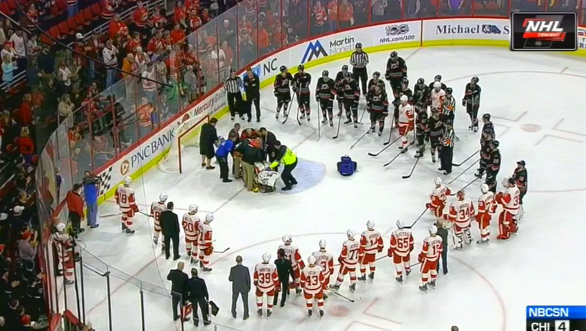 Hurricanes goalie Eddie Lack stretchered off in unsettling scene follo...