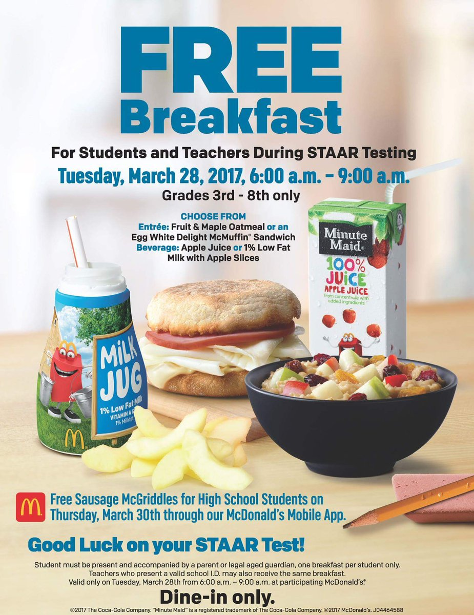 remember to eat a good breakfast mcdonalds is offering one for free cosagov httpstcofclx4eyzos