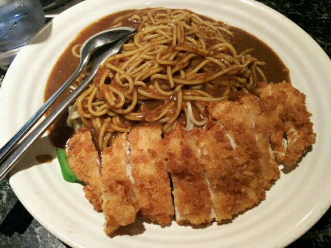 [英語日記] カレースパゲッティ Curry Spaghetti