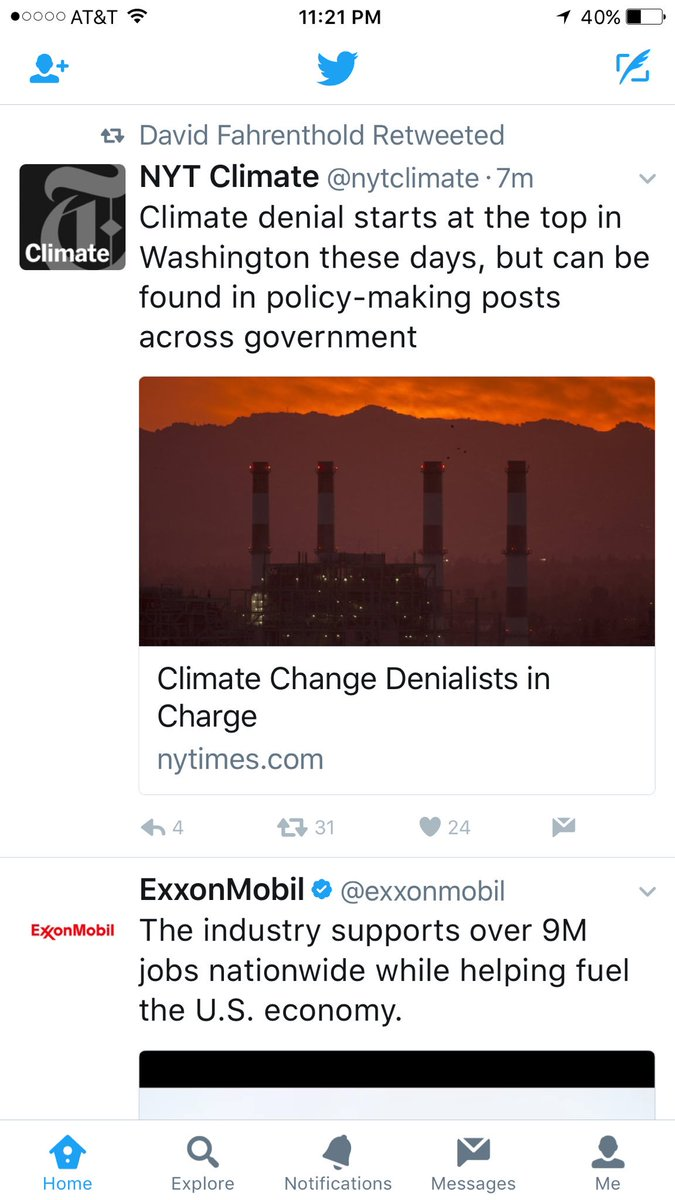 @Fahrenthold When your Twitter feed delivers ads with serendipitous proximity... #ClimateAction #exxon <br>http://pic.twitter.com/Nz6uldjudt