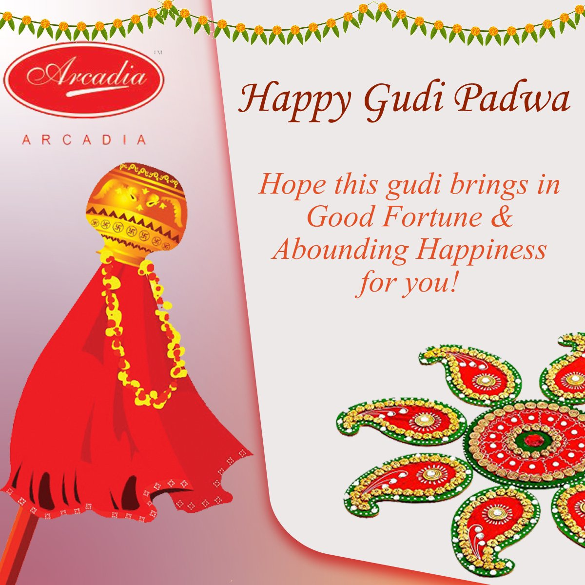 Happy #GudiPadwa Hope this #Gudi Brings in Good Fortune &amp; Abounding #Happiness for you. #GudiPadwa2017 #HappyNewYear2017 #HappyNewYear<br>http://pic.twitter.com/EeYnhyHNrc