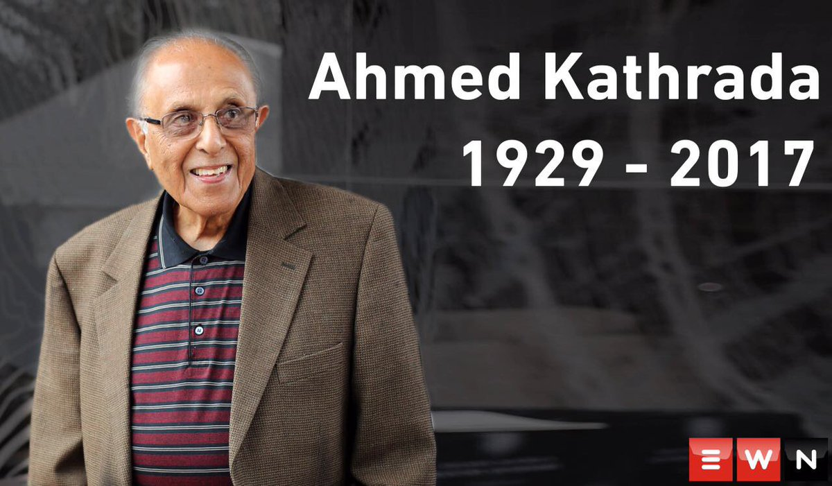 #AhmedKathrada has died at the age of 87  https://t.co/0YOsulAoJk http...