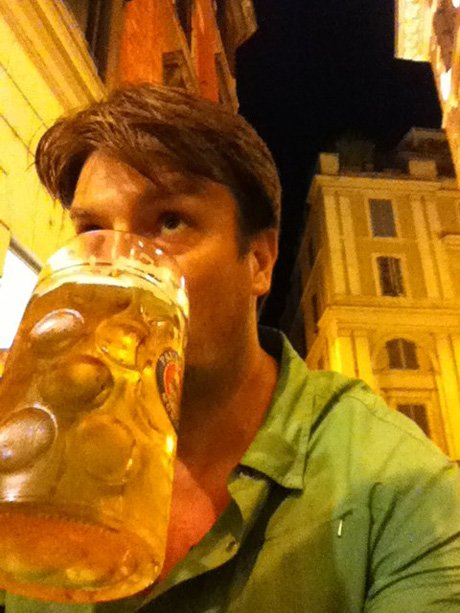 Happy Birthday Canadian-American actor Nathan Fillion (March 27, 1971- ) on vacation in Italy 2011.