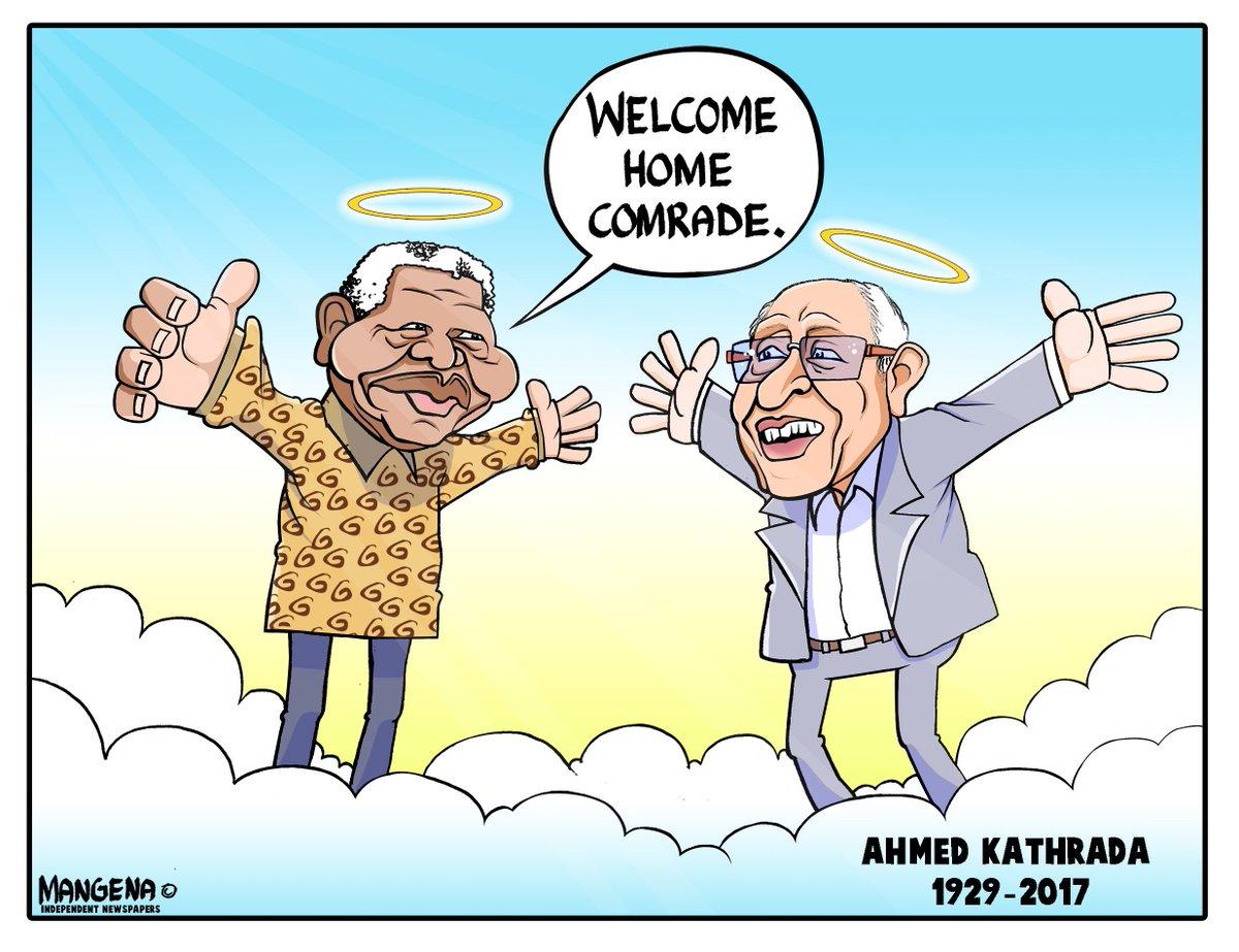 #RIPUncleKathy #AhmedKathrada #comrades Cartoon by @Bethuel_M https://t.co/38qAVcI9su