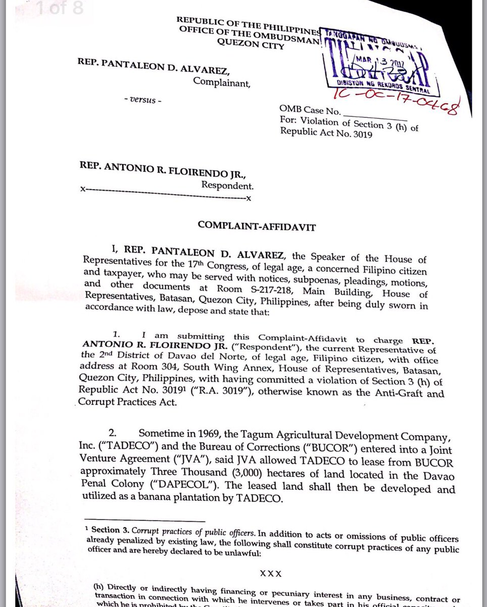 Abs Cbn News On Twitter Alvarez Complaint Stemmed From The Joint