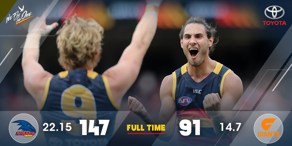 A huge win to begin! What an incredible start to our 2017 season #AFLC...