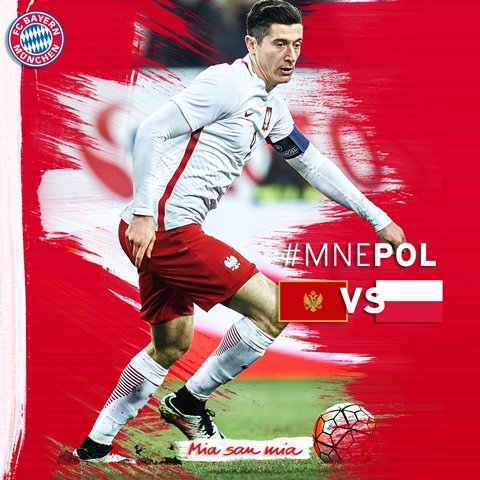 The Montenegro defence are in for a tough night... Good luck, @lewy_of...
